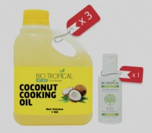 coconut cooking oil biotropical